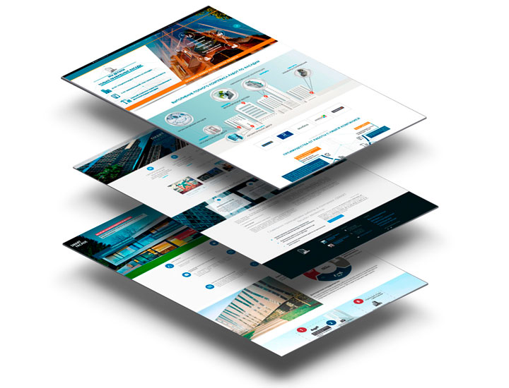 Smart facade corporative web-site